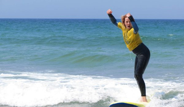 girl on surf board