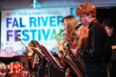 musicians at Fal River Festival