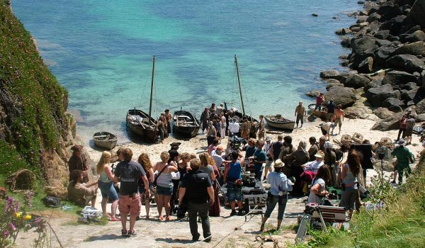 The cast and crew of Poldark