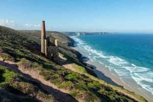 Wheal Coates mine engine and the sea