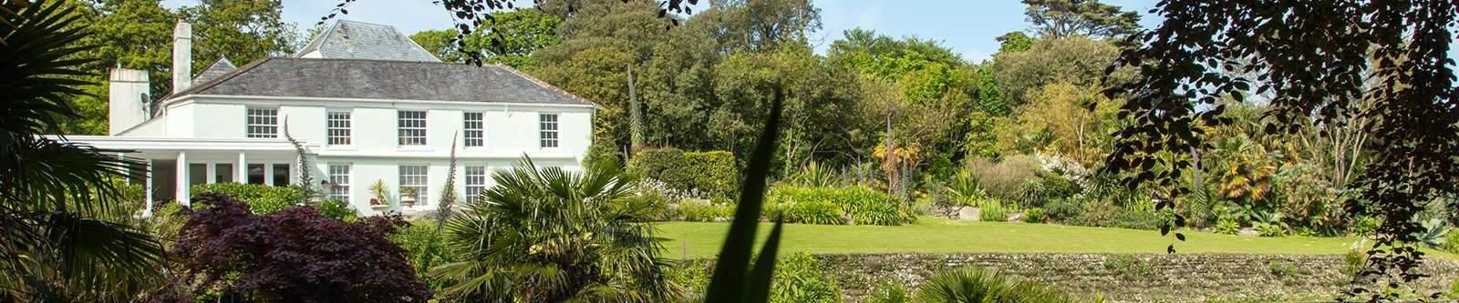 Trebah Garden and house