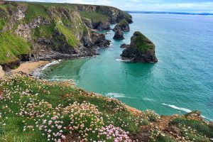 Overlooking Bedruthan Steps