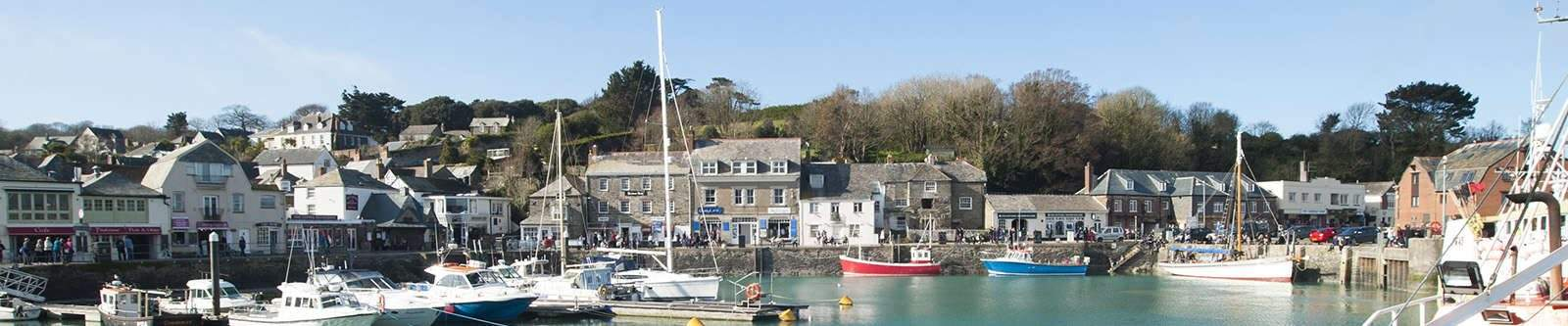 Padstow town by harbour