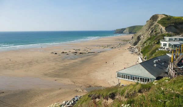 Watergate Bay in Cornwall