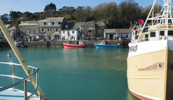 boats in harbour at Padstow