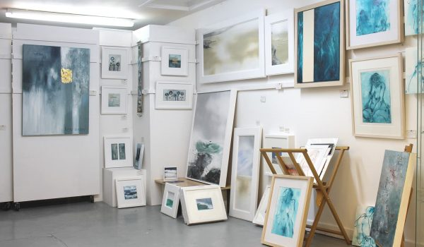 artists studio with easels