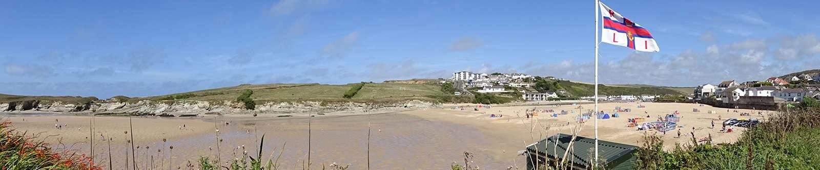 Porth beach view