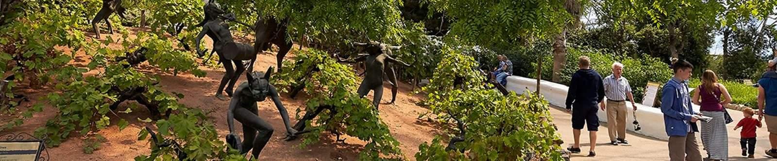 sculptures at Eden