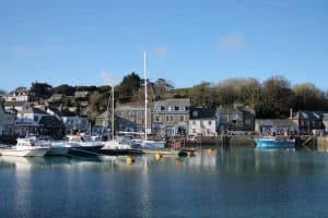 calm harbour at Padstow