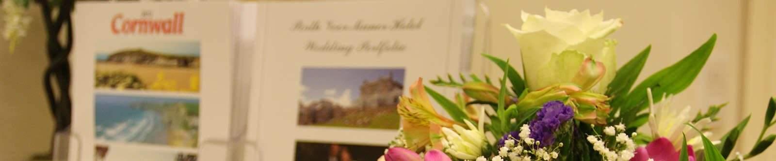 flowers in reception