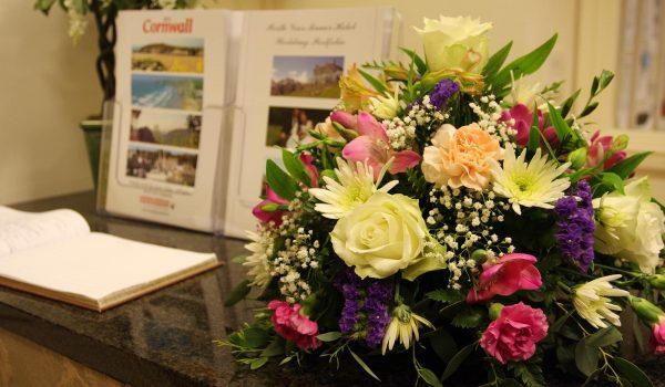 bouquet in reception