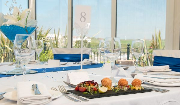wedding table with food