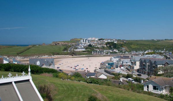 views of Porth beach