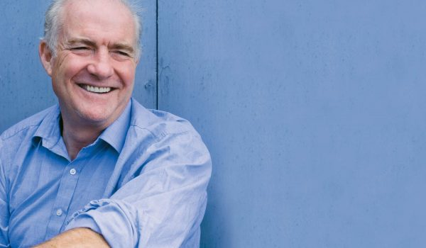 Rick Stein with blue background