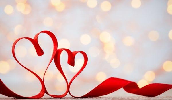 hearts in ribbon
