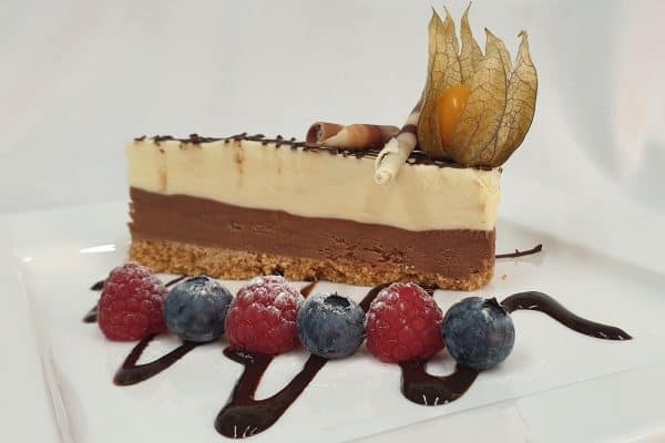 Beaucliffes signature chocolate torte with berries